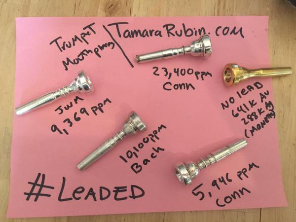 Does my child's trumpet mouthpiece contain unsafe levels of lead?