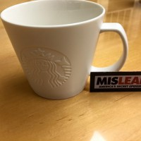 Plain White Ceramic Starbucks Coffee Mug With Logo