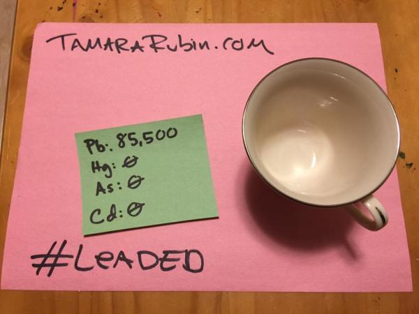 Vintage Lenox China Teacup: 85,000 ppm Lead
