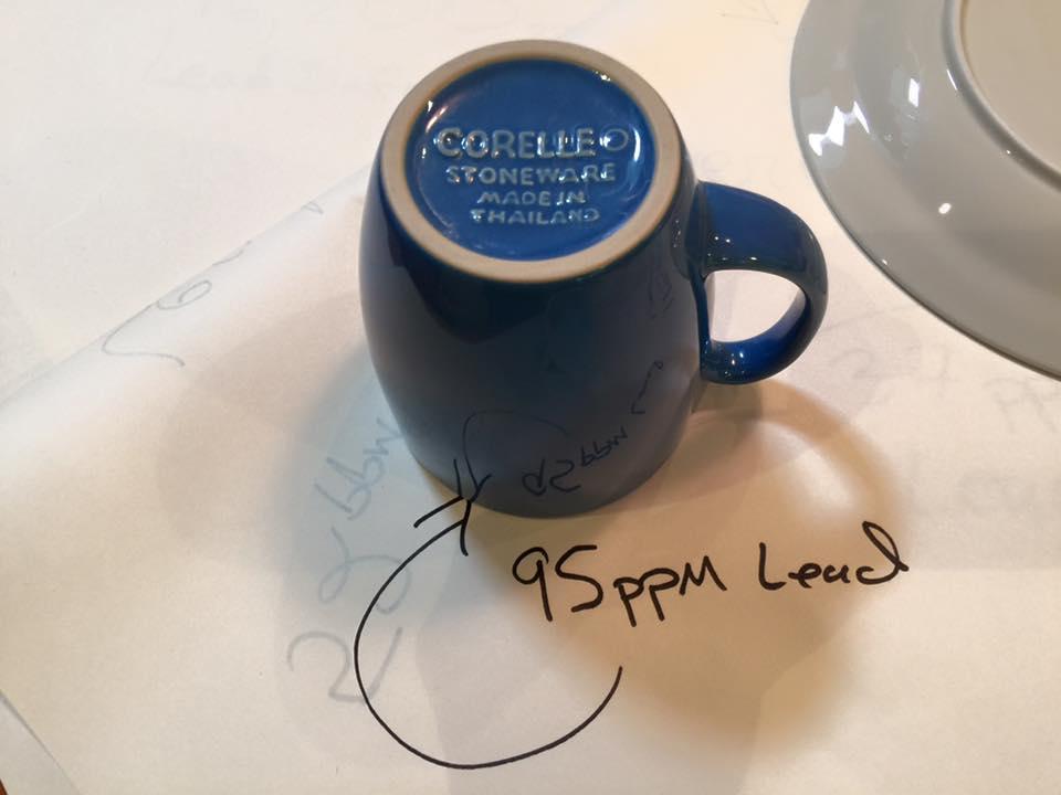 Blue Corelle Stoneware Mug Lead Safe Mama