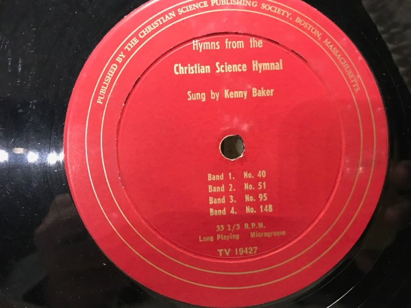 Vintage Record Album - Kenny Baker, Christian Science Hymnal: 7,713 ppm Lead. Who has a vintage record collection at home?