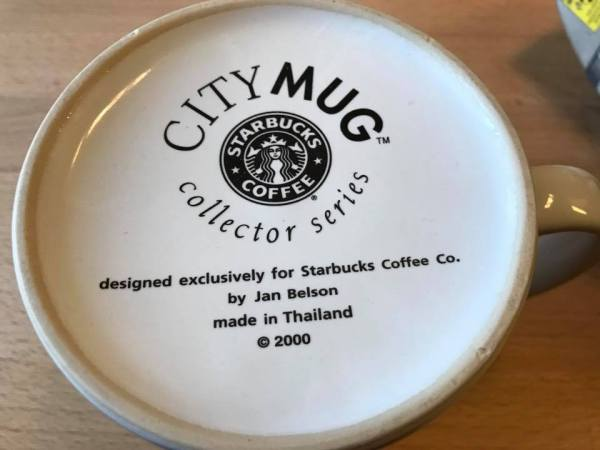 "2000 Starbucks Coffee ""City Mug"" Collector Series: 3,157 ppm Lead + Arsenic Too!"