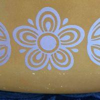 Butterfly Gold Vintage Pyrex Casserole Dish Tamara Rubin Lead Safe Mama 1