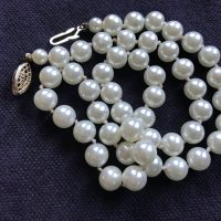 Medium Faux Leaded Vintage Pearls Tamara Rubin Lead Safe Mama