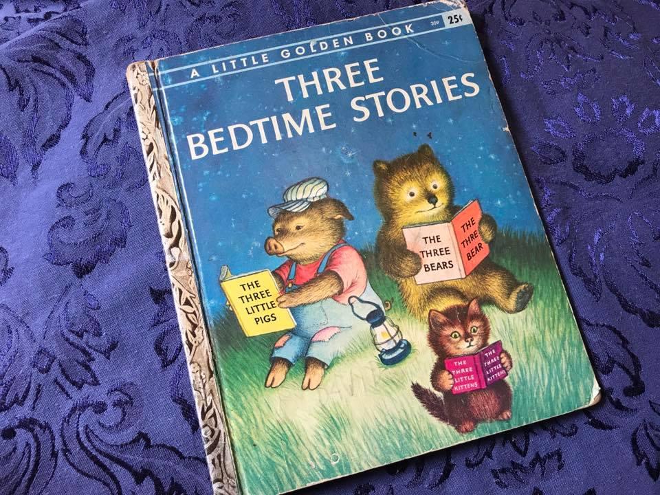 1958 Little Golden Book, Three Bedtime Stories Tamara Rubin Lead Safe Mama