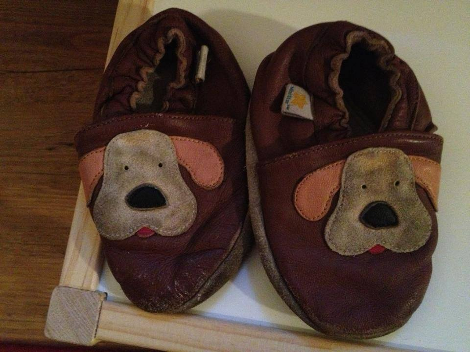 Mini Star Leather Baby Shoes With Puppy Dogs