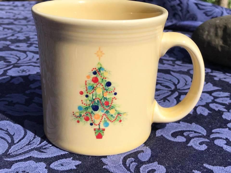 Homer Laughlin China Fiestaware Christmas Tree Mug, Made In USA