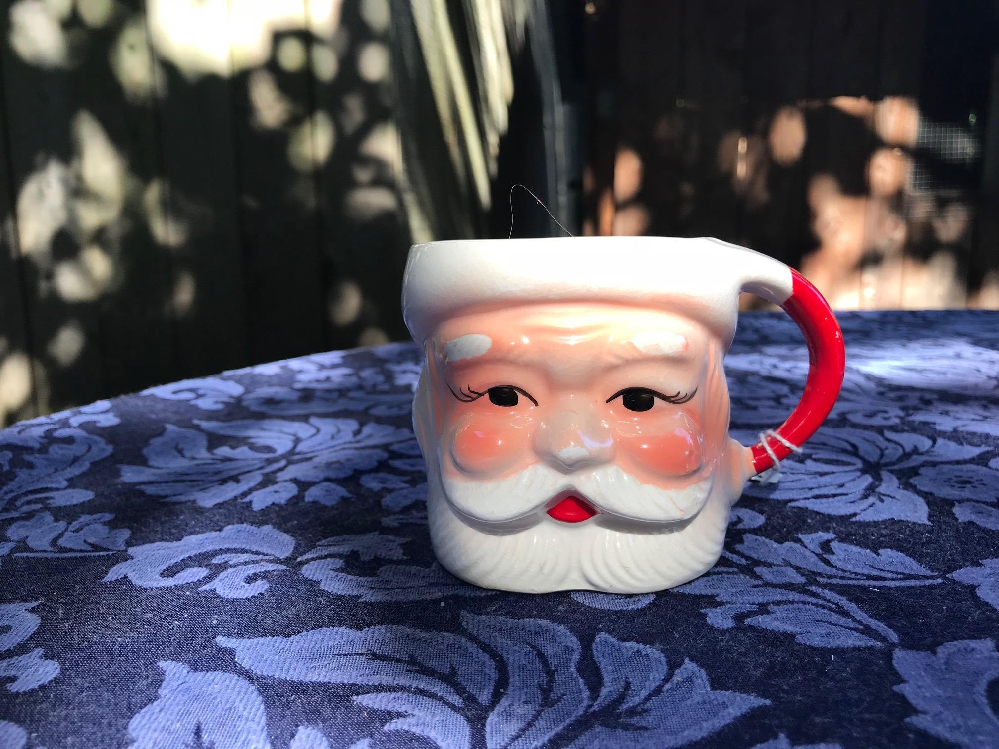 Vintage Made In Japan Ceramic Santa Claus Christmas Mug: as high as 5,077 ppm Lead.
