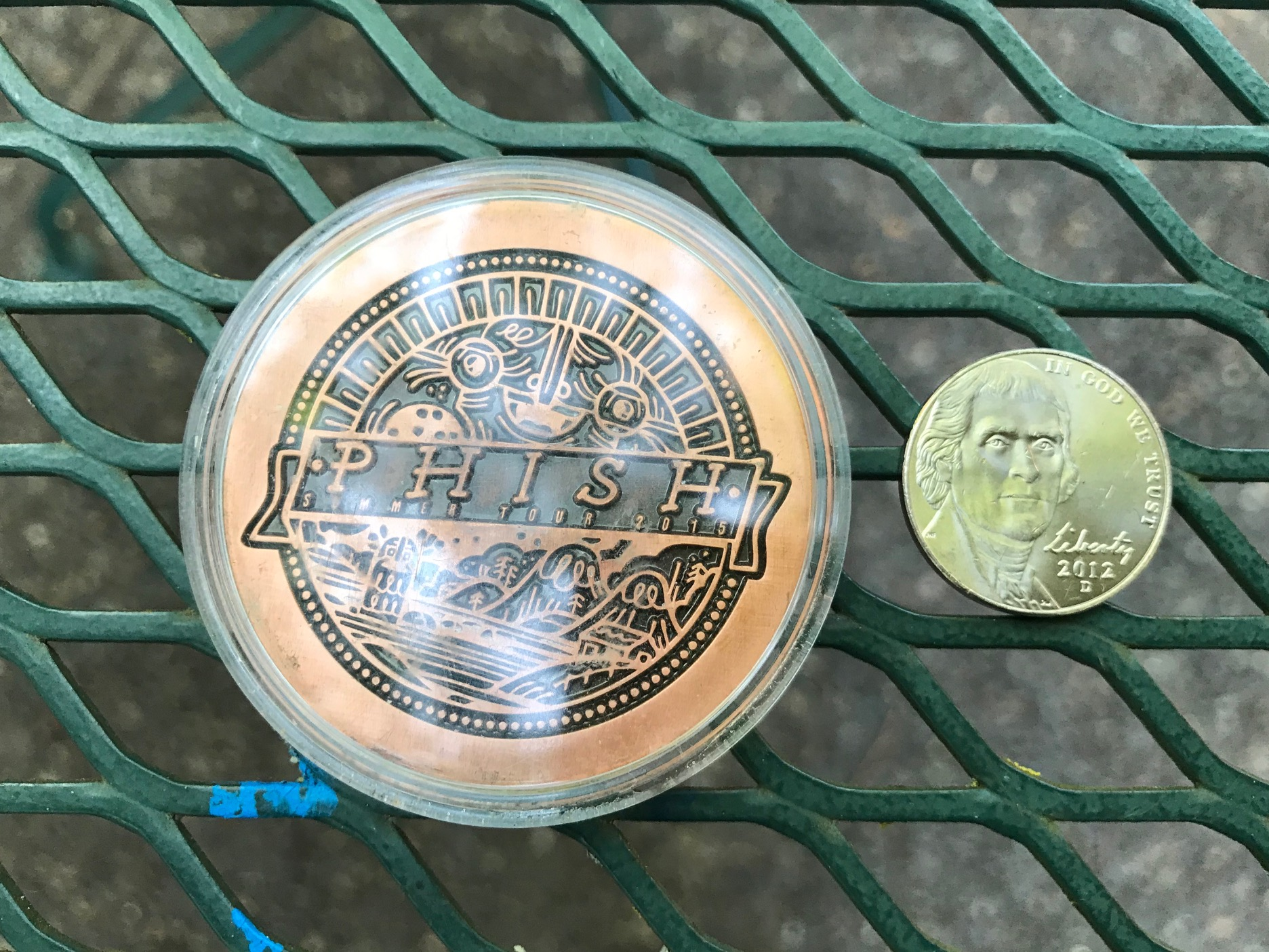 2015 Phish Summer Tour Collectible Coin, Bend Oregon