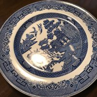 Johnson Brothers Willow Made In England Plate Front Lead Safe Mama Tamara Rubin 1