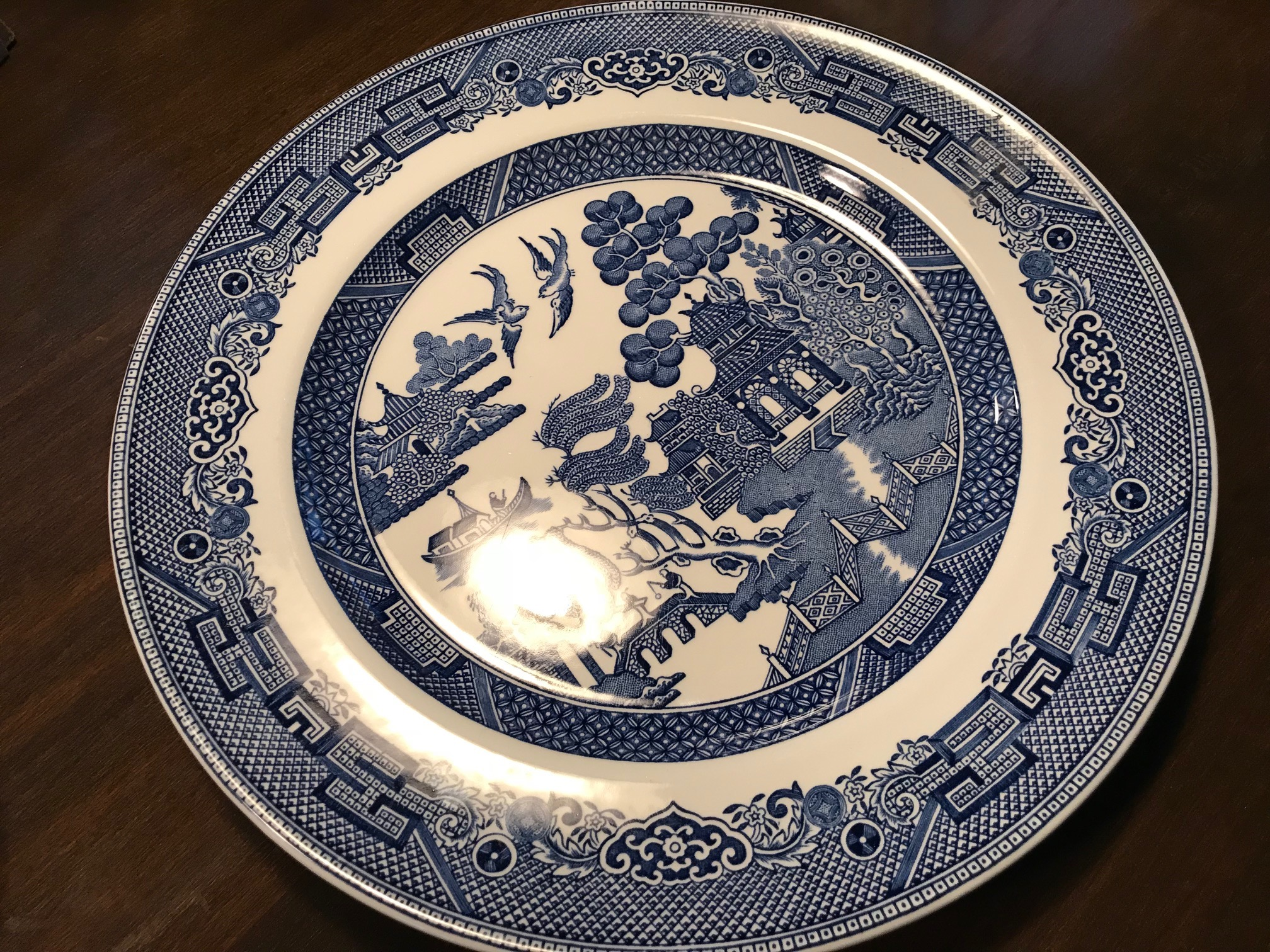 Johnson Brothers \ Willow\  Plate c. & Leaded: Johnson Brothers \u201cWillow\u201d Plate c. 1980s \u2013 Made In England ...