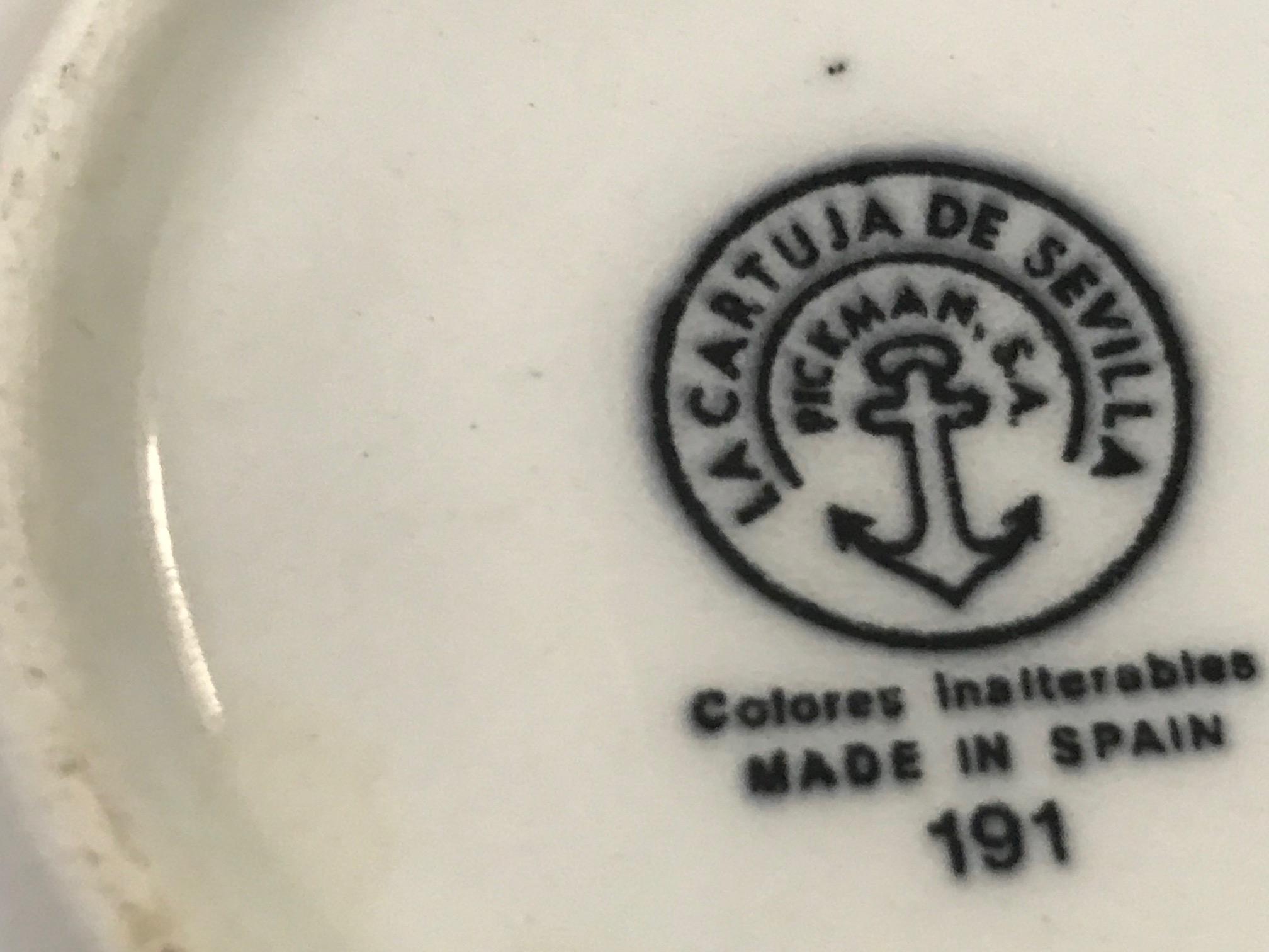 La Cartuja De Sevilla Pickman Anchor Made In Spain Soup Cup Tamara Rubin