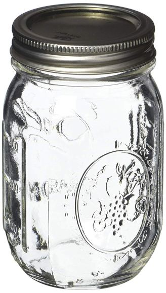2018 Ball Pint Mason Jar, Regular Mouth, 16 oz With Lids Lead Safe Mama