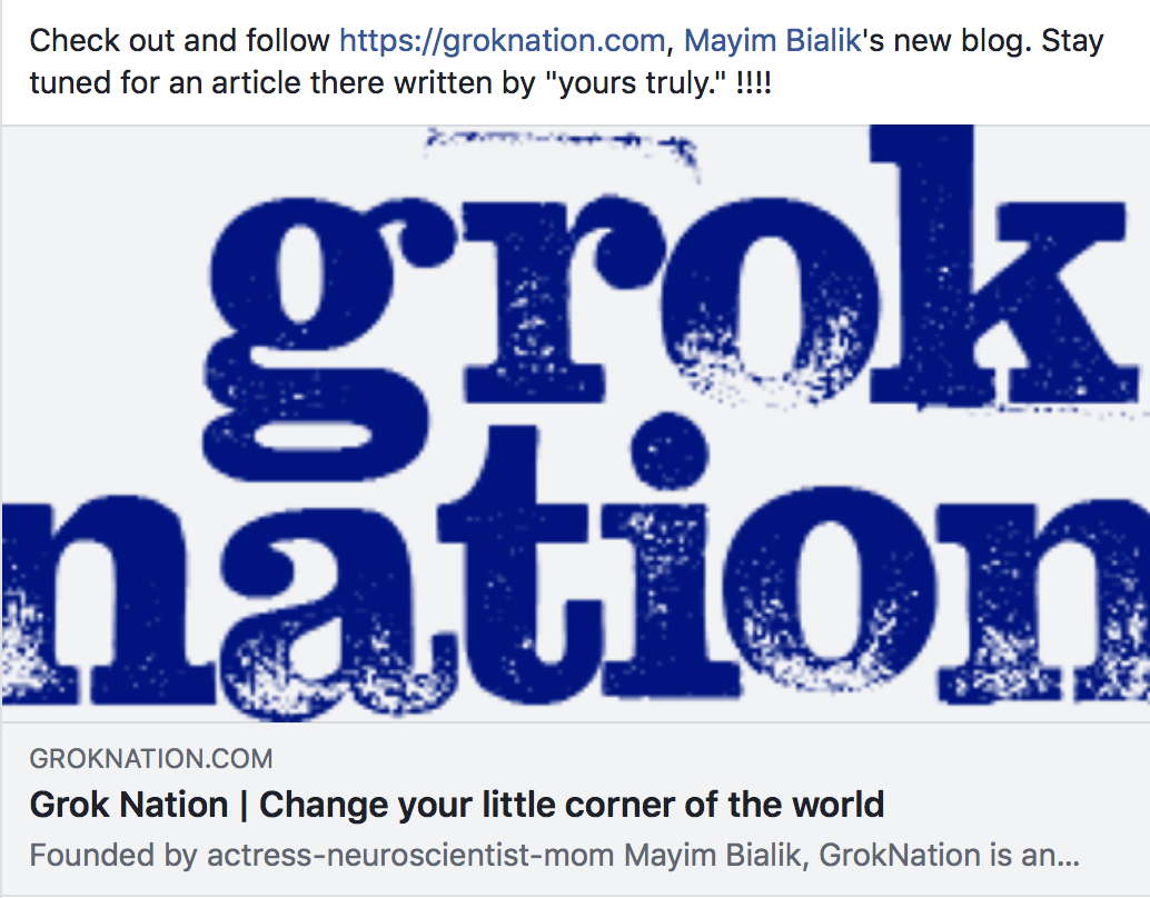 "Check out GrokNation.com and stand by for an article written by ""Yours Truly""!"