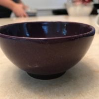 Purple Waechtersbach Germany Bowl from Williams Sonoma Lead Safe Mama Tamara Rubin 1
