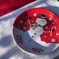 2018 Snowman Dollar Tree Christmas Tray Lead Safe Mama 1