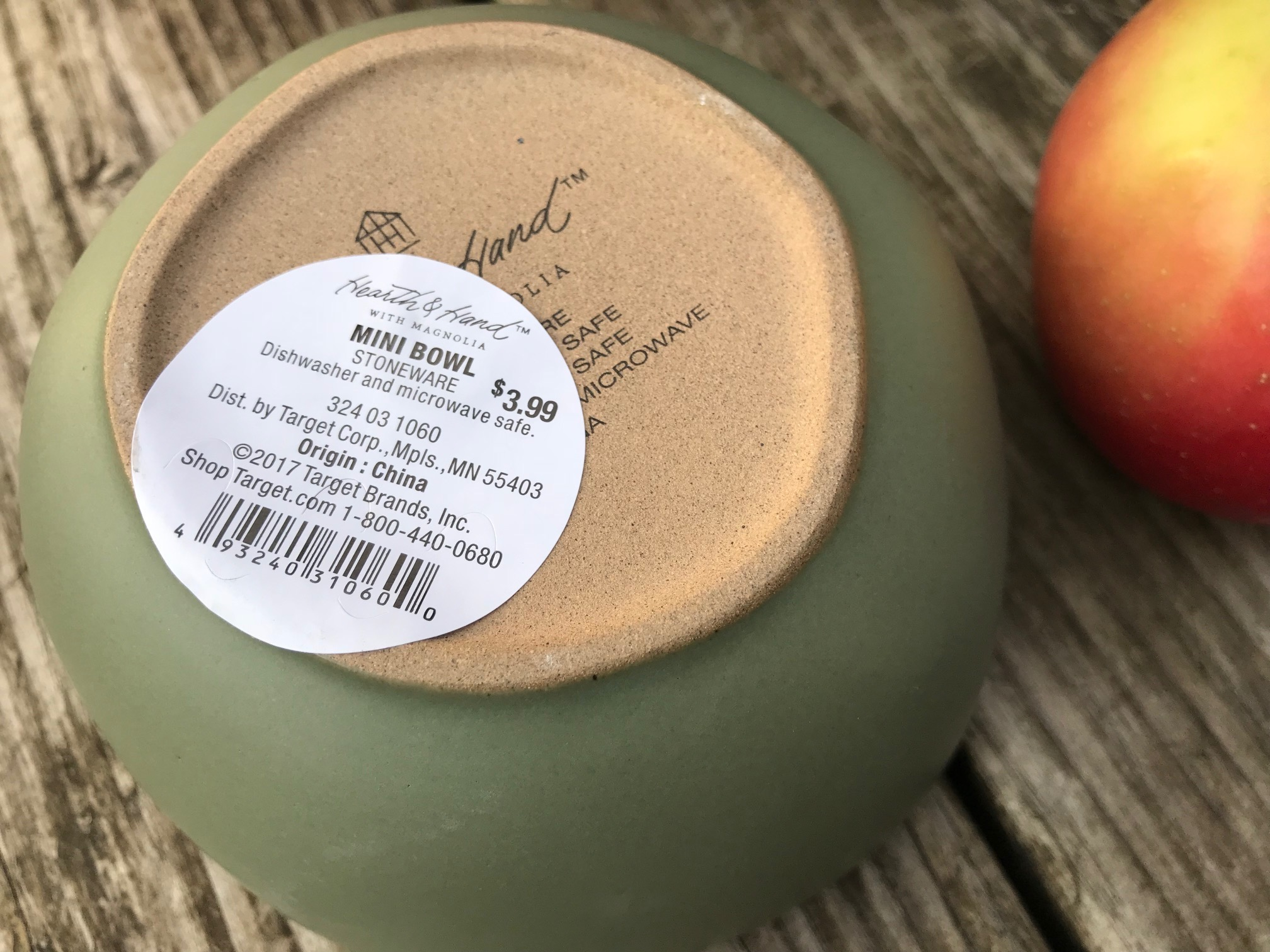 Green Glazed Stoneware Bowl From Target's Hearth & Hand With Magnolia by Chip & Joanna Gaines