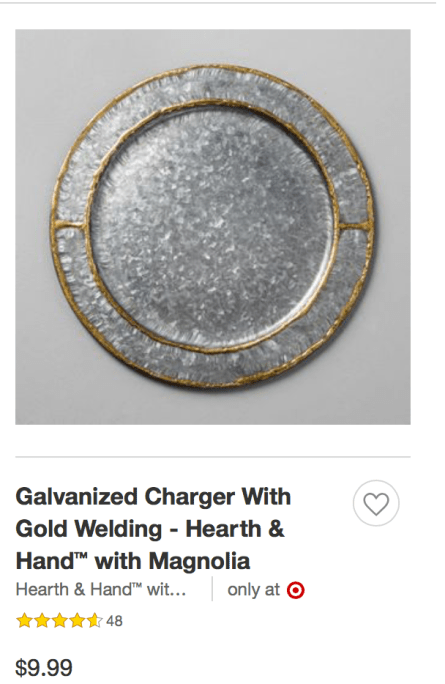 Galvanized Napkin Ring From Target's Hearth & Hand With Magnolia by Chip & Joanna Gaines: 591 ppm Lead