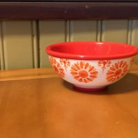 Pioneer Woman Floral Bursts Red Dipping Bowl Lead Safe Mama 1