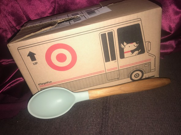 Cravings By Chrissy Teigen Wood & Green Silicone Spoon From Target: Lead-Free!