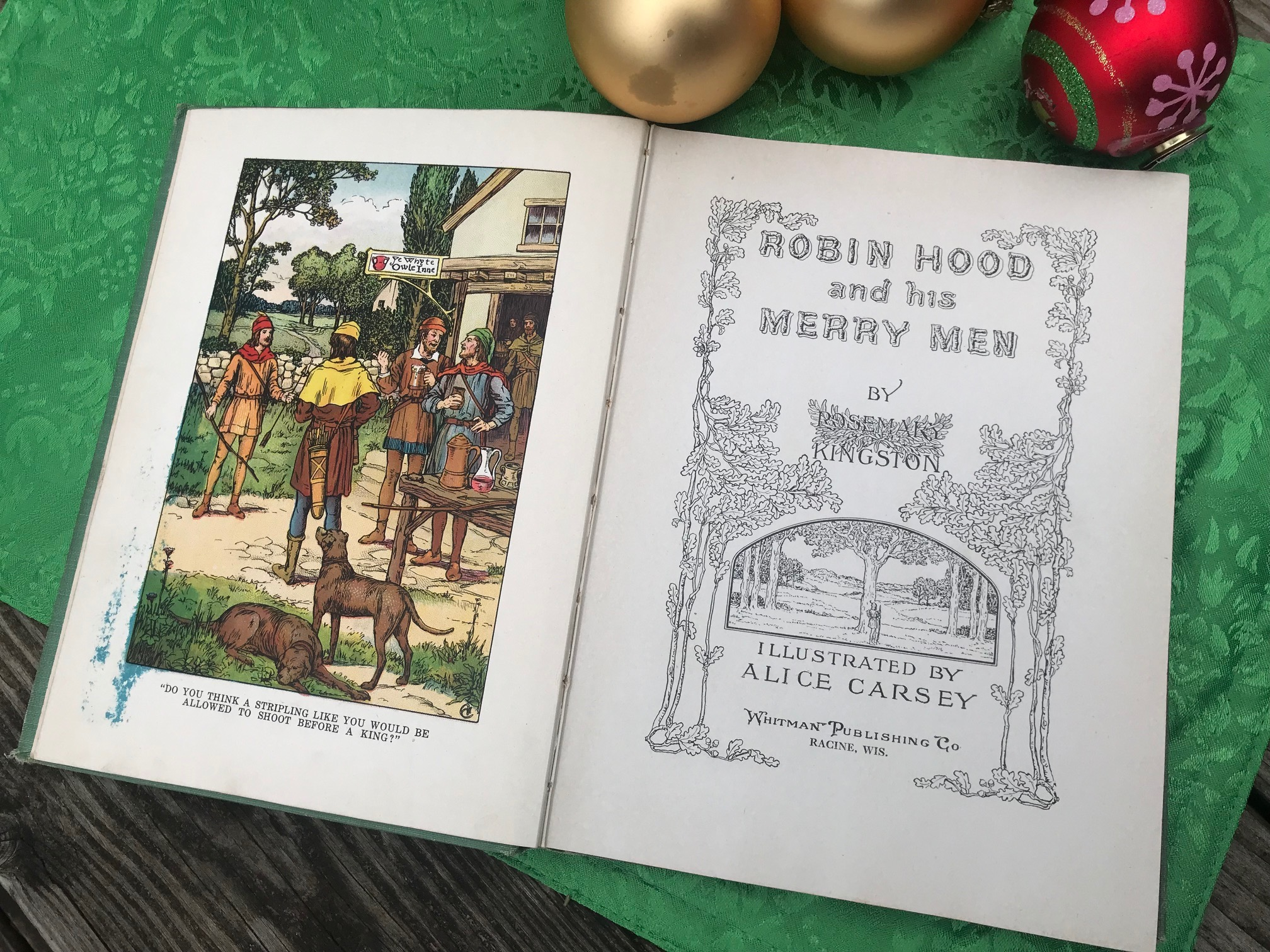 "1916 Hardcover Book, ""Robin Hood And His Merry Men"": 1,572 ppm Lead + 81 ppm Arsenic"