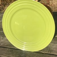 2018 Dollar Tree Rachael Ray Double Ridge Green Glazed Ceramic Plate Lead Safe Mama 1