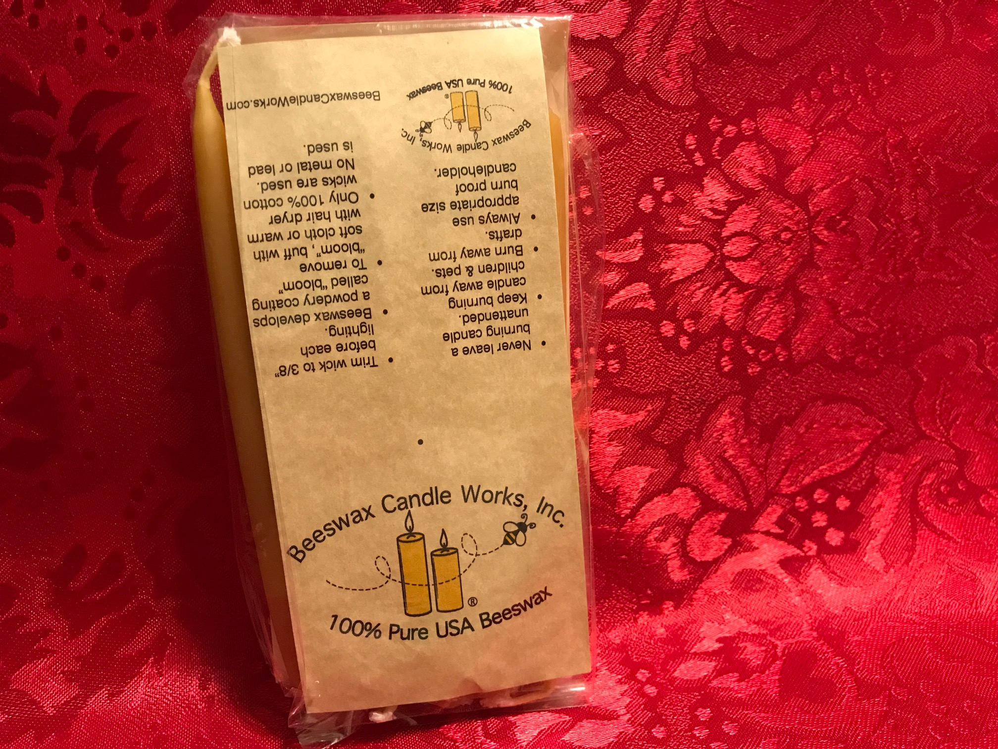 Beeswax Candle Works Brand Small Taper Candles For Hannukah (and Birthdays?): Lead-Free!