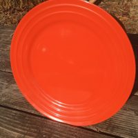 Dollar Tree Rachael Ray Double Ridge Orange Ceramic Made In China Plate Lead Safe Mama 1