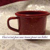 GSI Outdoor 2018 Red Enamel Espresso Cup Camping Cup Baby Mug Lead Safe Mama 1