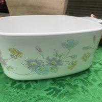 Pastel Bouquet Corningware Casserole Dish Lead Safe Mama 2