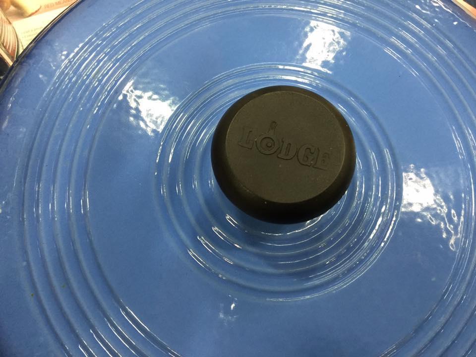Light Blue & White Lodge Cast Iron Enameled Dutch Oven: 48 ppm Lead + 35 ppm Arsenic