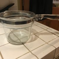 Clear Glass Vintage Pyrex Double Boiler Cooking Pot Lead Safe Mama 4