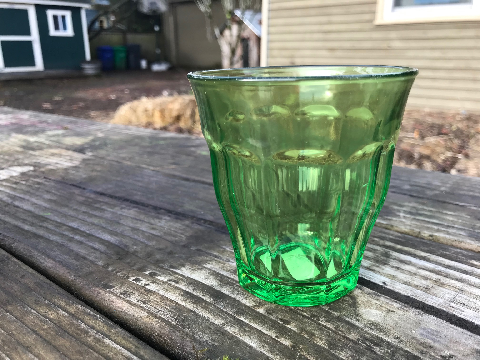 Green Duralex Picardie Colors Tumbler: Lead-Free, Arsenic-Free, Cadmium-Free and Mercury-Free!