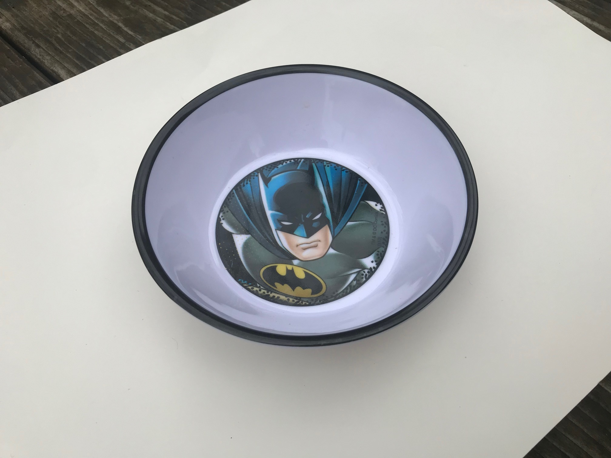 Plastic Made In China Batman Cereal Bowl: Lead Free