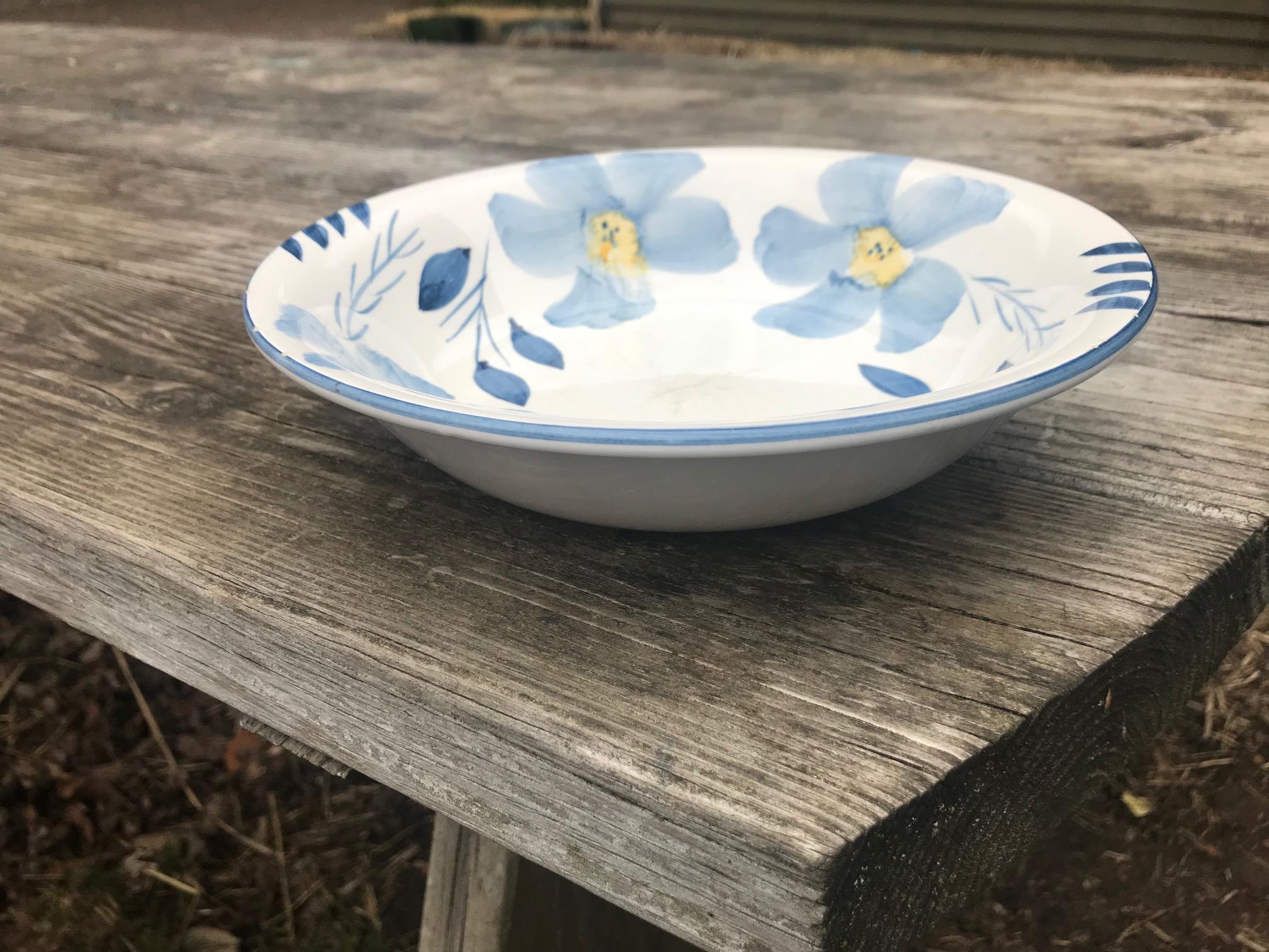 Dollar Store c. 1999 Blue & White Floral Pattern Ceramic Bowl (No Maker's Mark): 70,200 +/- 2,400 ppm Lead