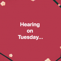 Hearing Tuesday 2018