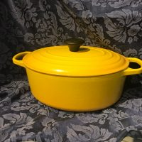 Yellow 2013 Le Creuset Number 29 Oval Casserole Lead Safe Mama a
