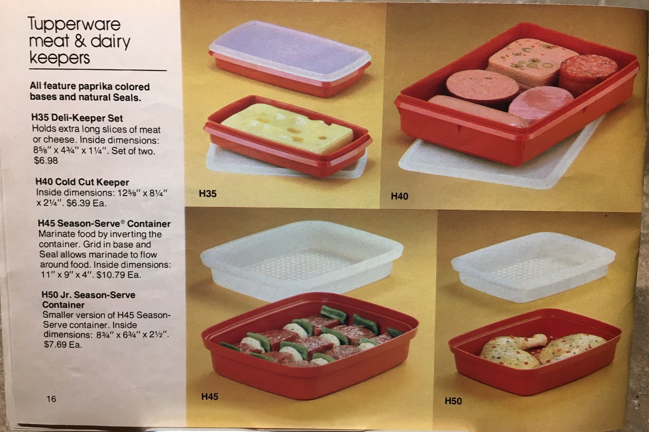 1982 Tupperware Meat and Dairy Keepers Toxic Tupperware Lead Safe Mama