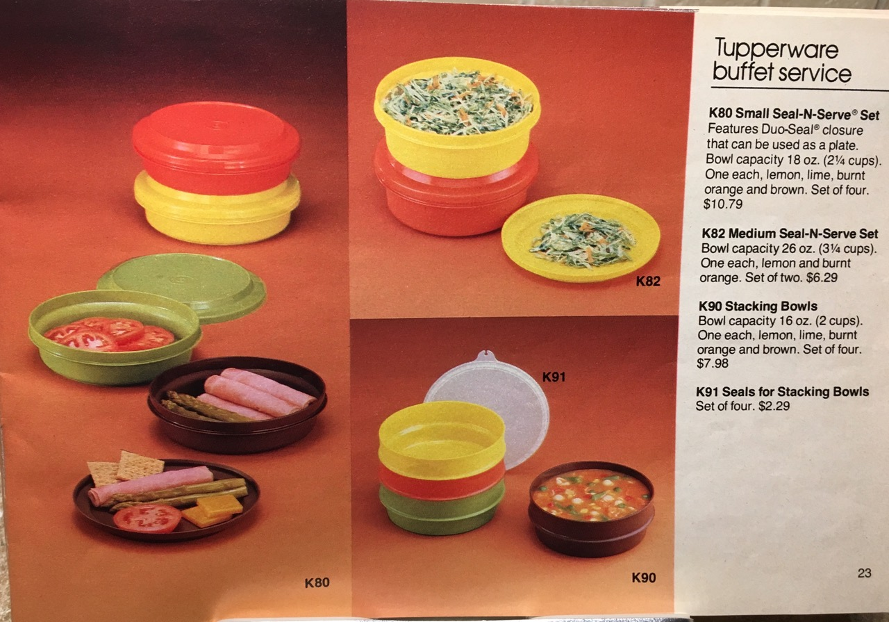 1982 Tupperware Buffet Service Lead Safe Mama Vintage Toxic Tupperware