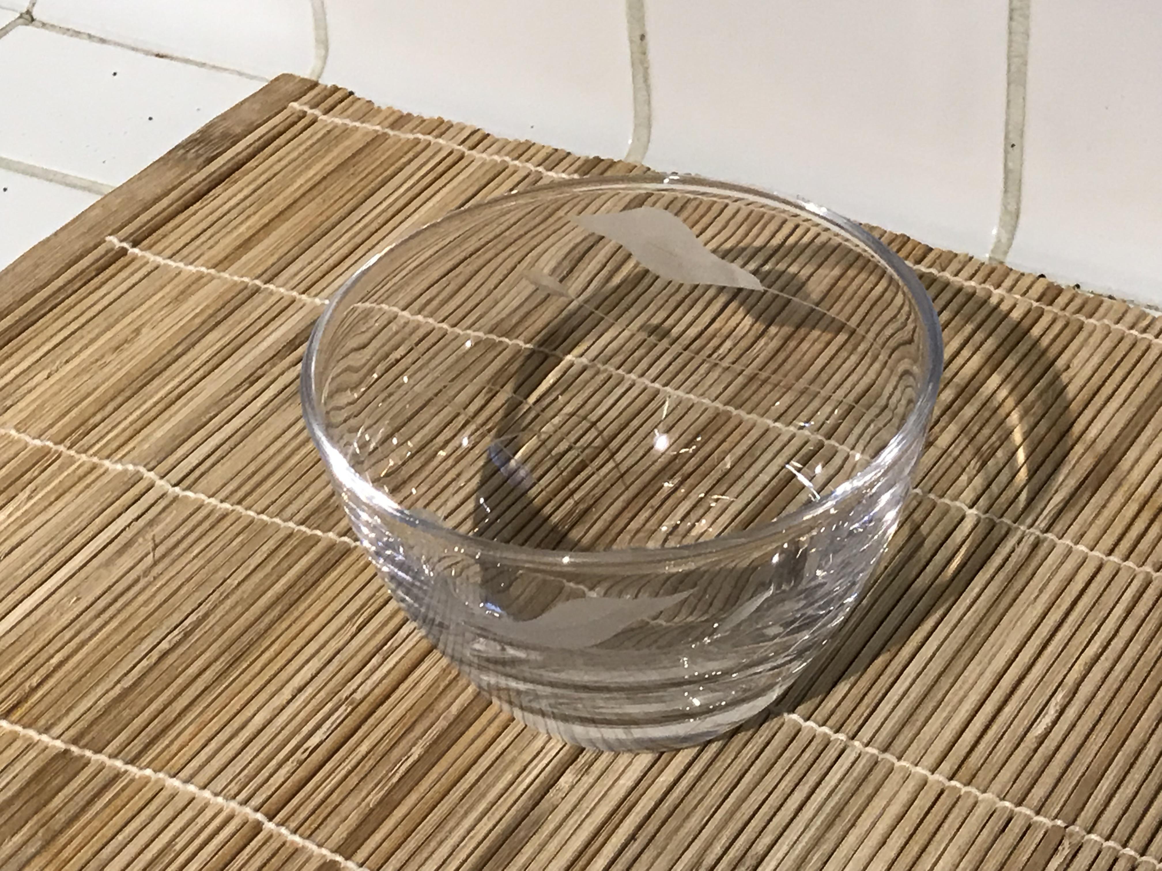 Pfaltzgraff Linea Pattern (Made In China) Clear Glass Bowl: Lead Free, Cadmium Free, Arsenic Free, Mercury Free!