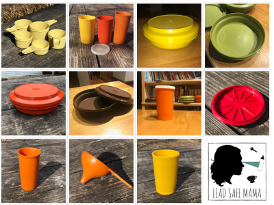 """Is MY Tupperware Toxic?"" (Images for each item tested - linked to test results for Mercury, Lead, Arsenic & Cadmium.)"
