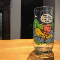 McDonalds Camp Snoopy Collection Charlie Brown Glass Lead Safe Mama 1