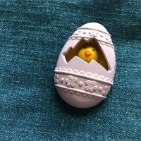 1977 Avon Fragrance Glace Easter Egg Perfume Pin Lead Safe Mama 3