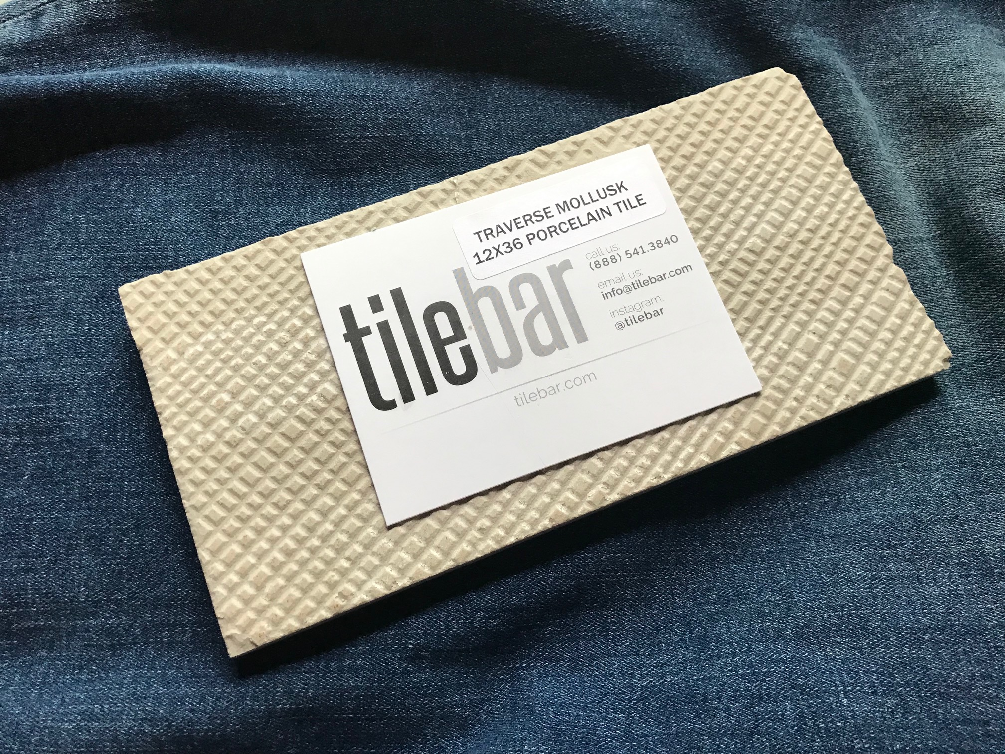 Traverse Mollusk ceramic tile from tilebar: 40 +/- 15 ppm Lead (safe by all standards)