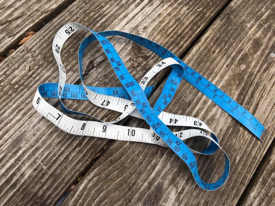 Not So Old...German Dritz Blue and White Vinyl Measuring Tape for Sewing: 1,372 ppm Lead. [90 ppm Lead is unsafe in kids items.]