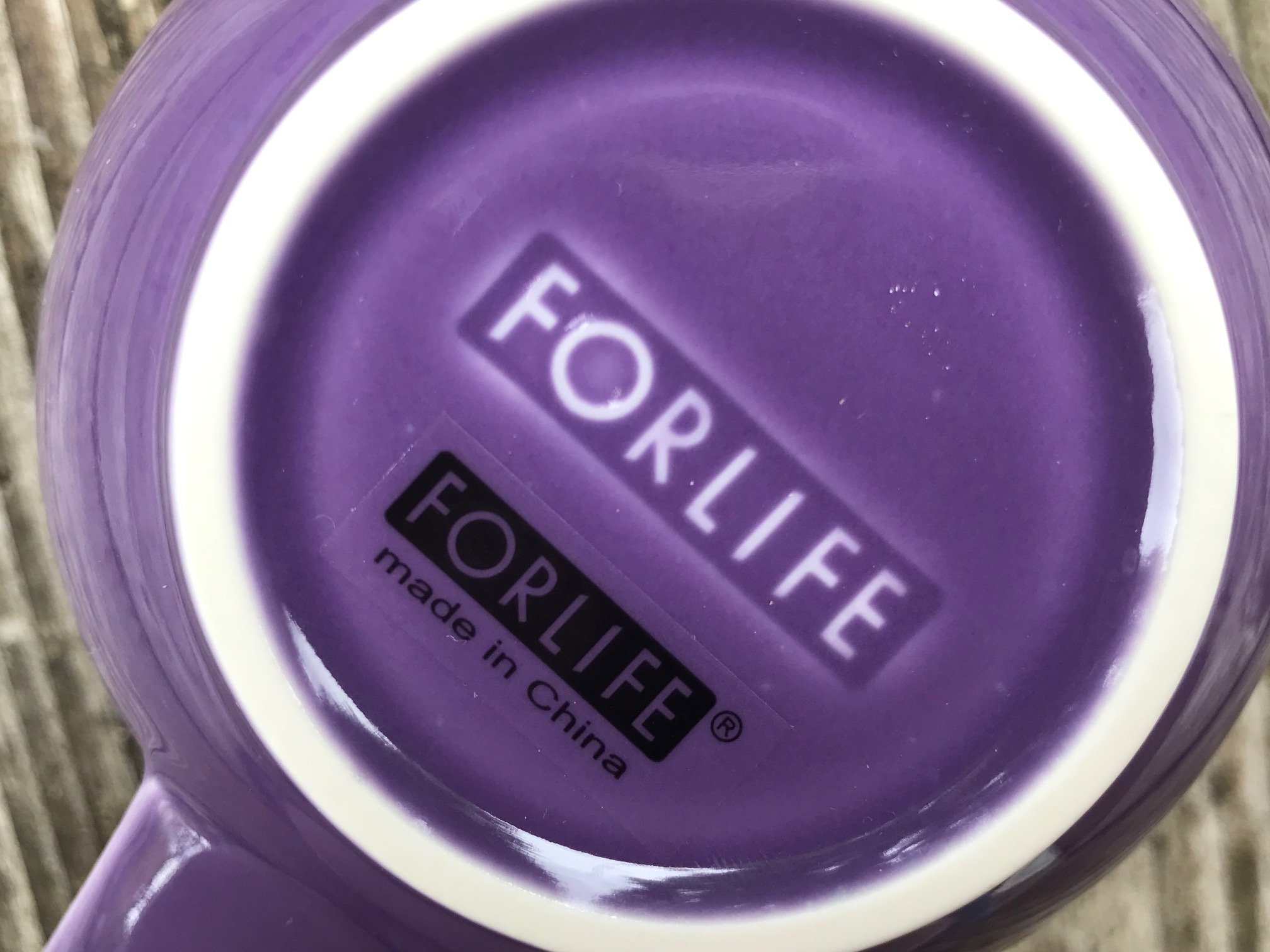 "One of my most disappointing finds recently, 2019 ForLife purple ""lead-free"" mug: 541 ppm Lead"