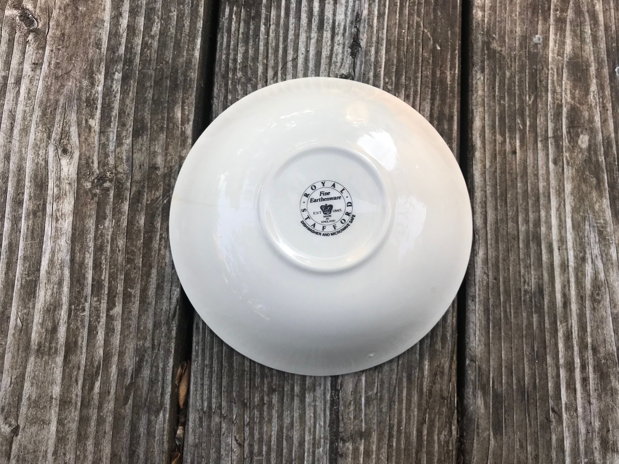 White Glazed Ceramic Royal Stafford Fine Earthenware Made In England Bowl: 66,300 ppm Lead [For Context: 90 ppm Lead is unsafe in children's items.]