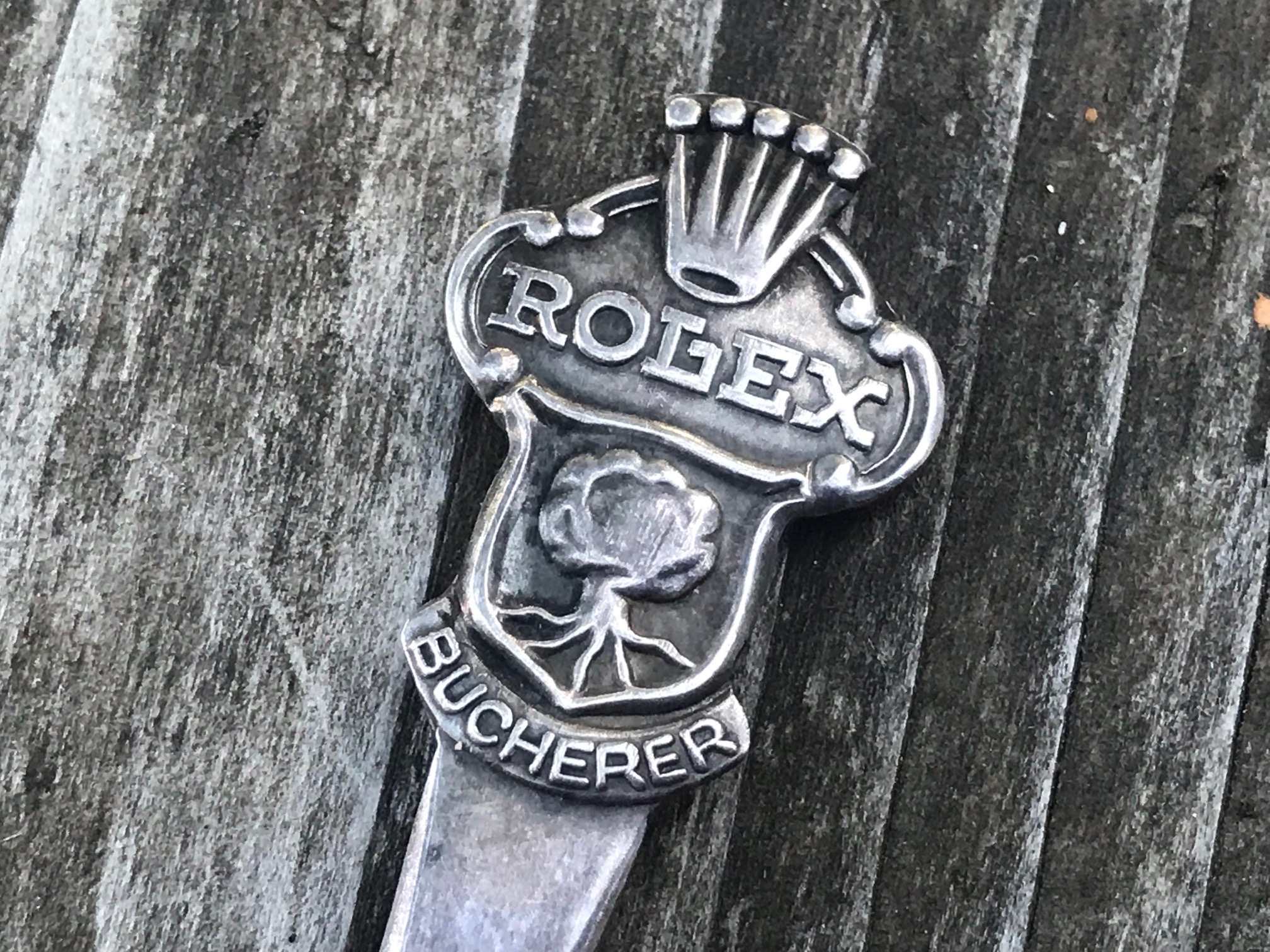 Vintage Tiny Collectable Rolex Bucherer of Switzerland Spoon: 975,000 ppm Silver (more pure than 925), no LEAD!