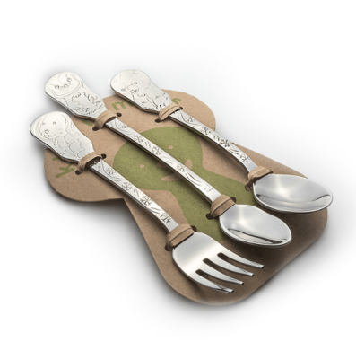 If you are looking for the perfect non-toxic, heirloom-quality American made baby gift, this is it! Kleynimals Baby Flatware Set.