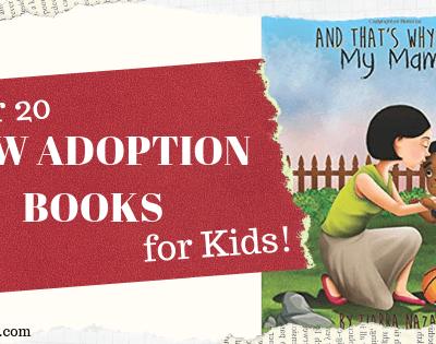 over 20 new adoption books for kids